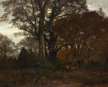 Intérieur de forêt pendant l'hiver (Karl Bodmer) - Muzeo.com