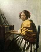 Jeune femme au virginal (Johannes Vermeer) - Muzeo.com