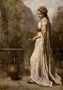 Jeune fille grecque à la fontaine (Jean-Baptiste Camille Corot) - Muzeo.com