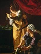 Judith et sa servante avec la tête d'Holopherne (Artemisia Gentileschi) - Muzeo.com
