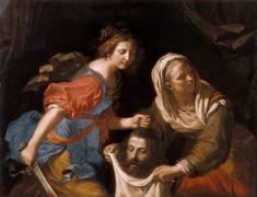 Judith tenant la tête d'Holopherne (Le Guerchin) - Muzeo.com