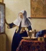 La jeune femme à l'aiguière (Johannes Vermeer) - Muzeo.com