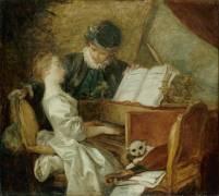 La Leçon de musique (Jean-Honoré Fragonard) - Muzeo.com