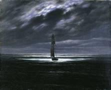 La mer au clair de lune (Caspar David Friedrich) - Muzeo.com