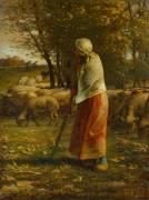 La petite bergère (Jean-François Millet) - Muzeo.com