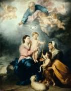 La Sainte Famille, dite la Vierge de Séville (Bartolome Esteban Murillo) - Muzeo.com
