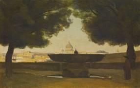 La vasque de l'Académie de France à Rome (Jean-Baptiste Camille Corot) - Muzeo.com
