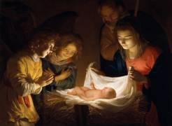 L'Adoration de l'Enfant Jésus (Gerrit Van Honthorst) - Muzeo.com