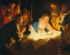 L'Adoration des Bergers (Gerrit Van Honthorst) - Muzeo.com
