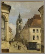 Le Beffroi de Douai (Jean-Baptiste Camille Corot) - Muzeo.com
