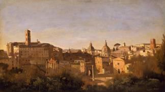 Le Forum vu des jardins Farnèse (Corot Jean-Baptiste Camille) - Muzeo.com