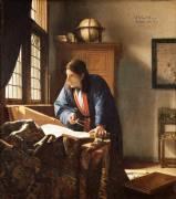 Le géographe (Johannes Vermeer) - Muzeo.com