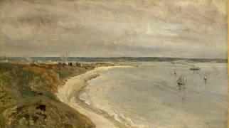 Le Havre. La Mer vue du haut des falaises. (Corot Jean-Baptiste Camille) - Muzeo.com