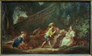 Le Jeu de la palette (Jean-Honoré Fragonard) - Muzeo.com