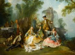 Le Repas au retour de la chasse (Nicolas Lancret) - Muzeo.com