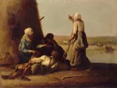 Le repos des faneurs (Jean-François Millet) - Muzeo.com
