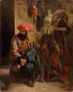 Le Turc à la selle (Delacroix Eugène) - Muzeo.com