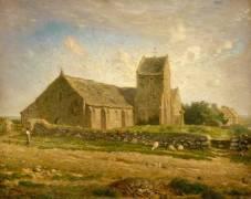 L'église de Gréville (Jean-François Millet) - Muzeo.com