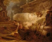 L'étable (Jean-Honoré Fragonard) - Muzeo.com