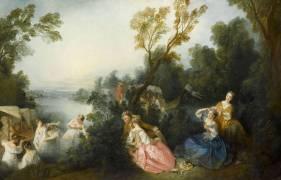 Les Plaisirs du bain (Nicolas Lancret) - Muzeo.com