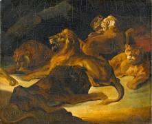 Lions couchés (Umberto anonyme) - Muzeo.com
