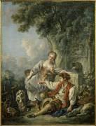 L'Obéissance récompensée (François Boucher) - Muzeo.com