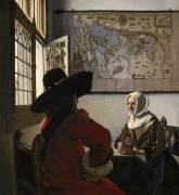 L'officier et la jeune fille (Vermeer Johannes) - Muzeo.com