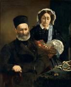 M. et Mme Auguste Manet (Manet Edouard) - Muzeo.com