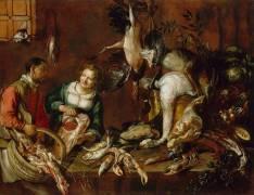 Marchande de volailles et de poissons (Boselli Felice) - Muzeo.com