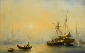 Marine, effet de brouillard (Barry François Bernard) - Muzeo.com