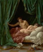 Mars et Vénus, une Allégorie de la Paix (Louis Jean François Lagrenée) - Muzeo.com