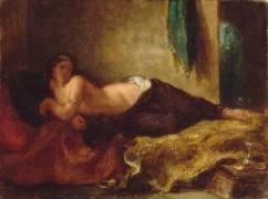 Odalisque (Eugène Delacroix) - Muzeo.com