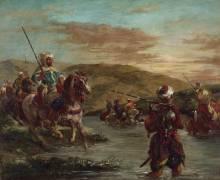 Passage d'un gué au Maroc (Eugène Delacroix) - Muzeo.com