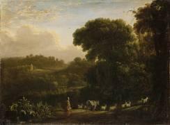 Paysage au soleil couchant (Le Lorrain Claude) - Muzeo.com