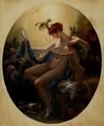 Portrait de Mademoiselle Lange en Danae (Girodet Anne-Louis) - Muzeo.com