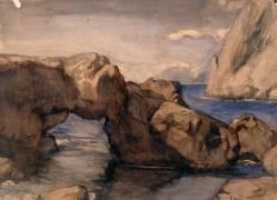 Rochers à Capri (Chasseriau Théodore) - Muzeo.com
