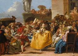 Scène de carnaval ou Le menuet (Giandomenico Tiepolo) - Muzeo.com