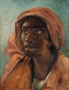 Tête de jeune négresse (Géricault Théodore) - Muzeo.com