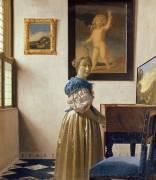 Une dame debout au virginal (Vermeer Johannes) - Muzeo.com