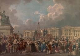 Une exécution capitale, place de la Révolution (Pierre-Antoine Demachy) - Muzeo.com