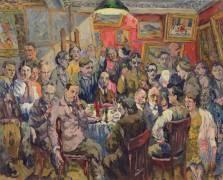 Artistes Moscovites (Aristarkh Lentulov) - Muzeo.com