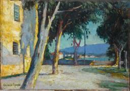 Ajaccio, vue de la chapelle des Grecs (Paul Charles Chocarne-Moreau) - Muzeo.com