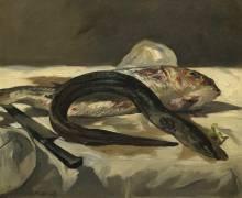 Anguille et rouget (Edouard Manet) - Muzeo.com
