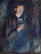 Autoportrait à la cigarette (Munch Edvard) - Muzeo.com