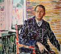 Autoportrait en chemise bleue (Munch Edvard) - Muzeo.com