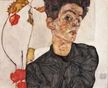 Autoportrait et fruit (Schiele Egon) - Muzeo.com