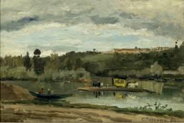 Bac à la Varenne Saint Hilaire (Camille Pissarro) - Muzeo.com