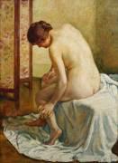 Baigneuse (Theo van Rysselberghe) - Muzeo.com