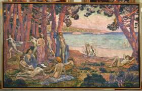 Baigneuses en Bord de Mer (Theo van Rysselberghe) - Muzeo.com