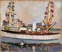 Bateau pavoisé (Raoul Dufy) - Muzeo.com